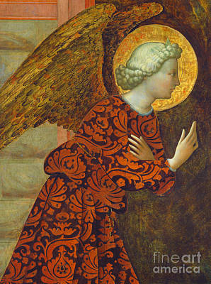 Christmas Greeting Painting - The Archangel Gabriel by Tommaso Masolino da Panicale