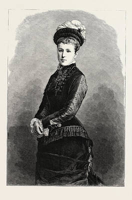 Christina Drawing - The Archduchess Maria Christina Of Austria by Austrian School