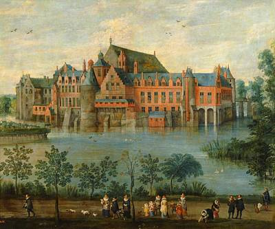 Brussels Painting - The Archiduques Isabel Clara Eugenia And Alberto At The Palacio De Tervuren In Brussels by Jan Brueghel the Elder