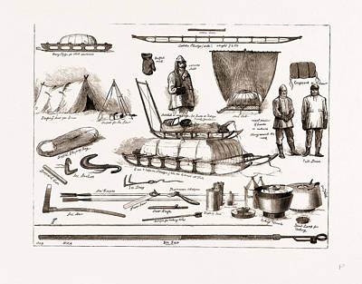 Arctic Drawing - The Arctic Expedition Apparatus To Be Used By The Explorers by Litz Collection
