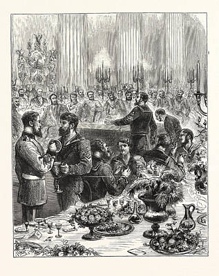 Arctic Drawing - The Arctic Expedition, Banquet At The Mansion House by English School