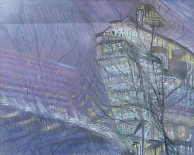 Seagram Photograph - The Ark, Novotel Hotel, Hammersmith Flyover, 1999 Pastel On Paper by Sophia Elliot