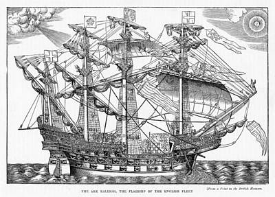 The Ark Raleigh The Flagship Of The English Fleet From Leisure Hour Art Print
