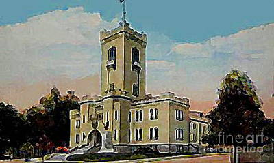 The Armory In White Plains Ny 1923 Art Print by Dwight Goss
