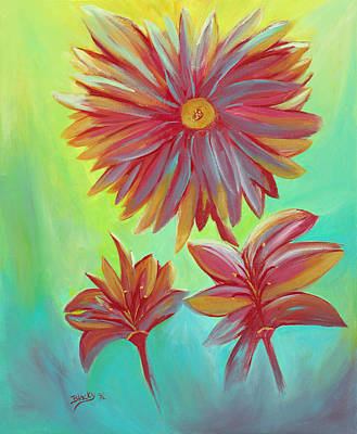 Painting - The Arrangement by Donna Blackhall
