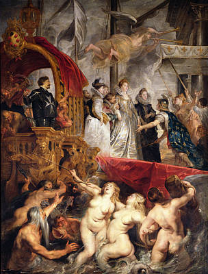 The Arrival Of Marie De Medici In Marseilles, 3rd November 1600, 1621-25 Oil On Canvas Art Print by Peter Paul Rubens