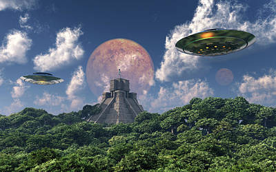 The Arrival Of Planet Nibiru As Seen Art Print by Mark Stevenson