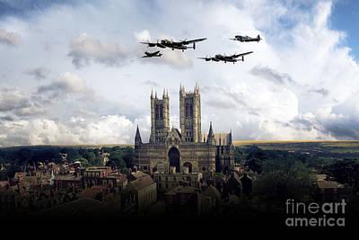 Lancaster Bomber Digital Art - The Arrival Of Vera  by J Biggadike