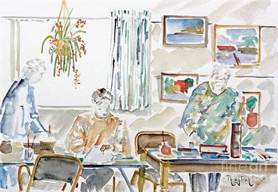 Phong Trinh Painting - The Art Club by Phong Trinh