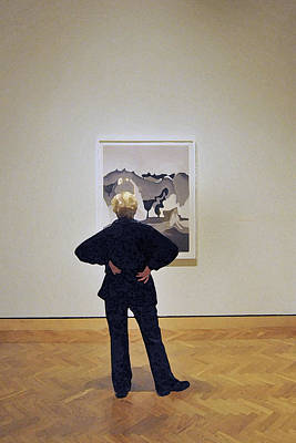 Photograph - The Art Critic by Michael Moschogianis