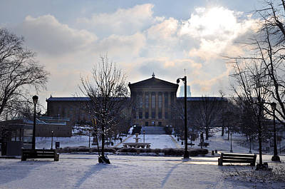 The Art Museum In The Snow Art Print by Bill Cannon