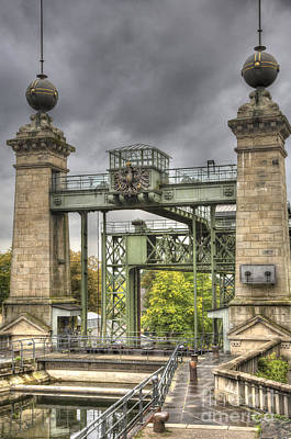 Steampunk Royalty-Free and Rights-Managed Images - The Art Nouveau Ships Elevator - Portal view by Heiko Koehrer-Wagner