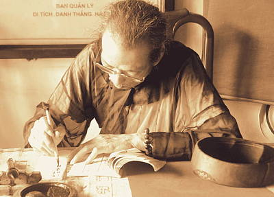 Character Study Photograph - The Art Of Chinese Calligraphy by Toni Abdnour