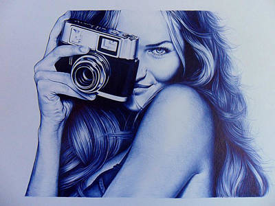 Vintage Camera Drawing - The Art Of Click 3 by Lucas Salgado