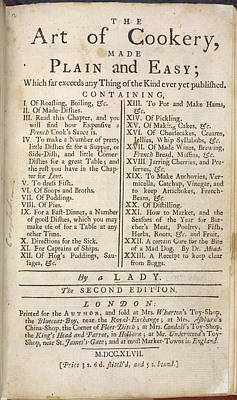 The Art Of Cookery Art Print by British Library