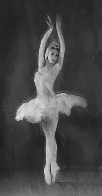 Prima Ballerina Painting - The Art Of Dancing by Steve K