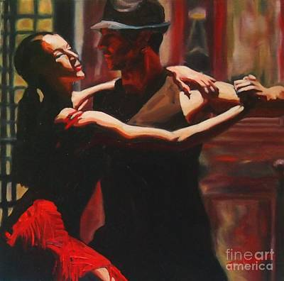 Painting - The Art Of Tango by Janet McDonald