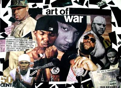 Isis Mixed Media - The Art Of War 50 Cent Full View by Isis Kenney