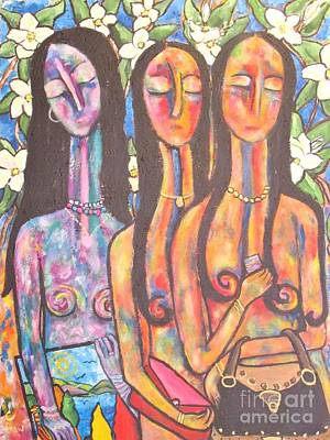 Nudes Painting - The Art Show by Chaline Ouellet