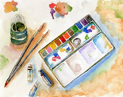 Painting - The Art Table by Tamyra Crossley