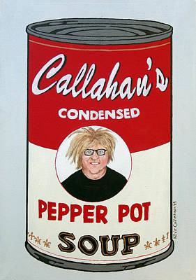 Painting - The Artist As Andy Warhol by Kevin Callahan