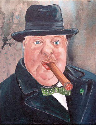 Painting - The Artist As Winston Churchill by Kevin Callahan
