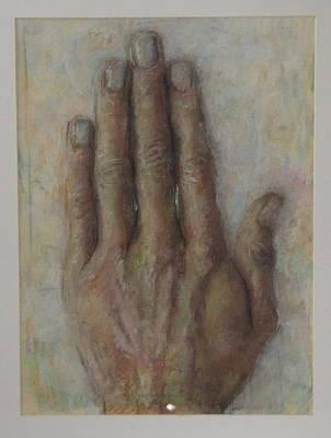 The Artist Hand Art Print by Paez  Antonio