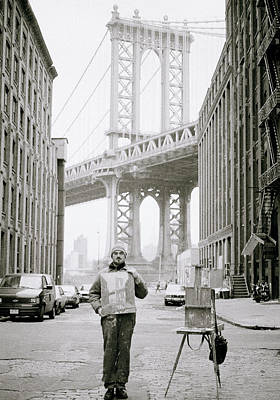 The Artist In New York Art Print by Shaun Higson