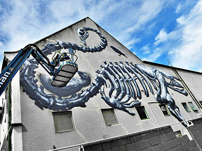 Palm Trees Rights Managed Images - The Artist ROA at Work  Royalty-Free Image by Steve Taylor