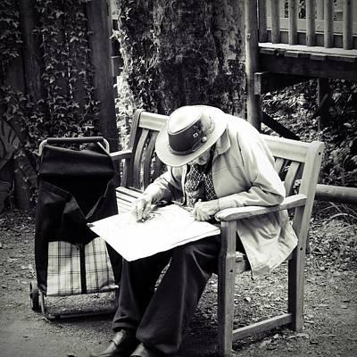 Elderly People Photograph - The Artist by Sharon Lisa Clarke