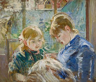 The Artists Daughter Art Print by Berthe Morisot