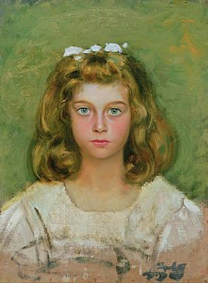 The Artists Daughter Art Print by Edoardo Gioja