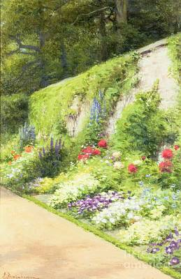 Ground Painting - The Artists Garden by Joseph Farquharson