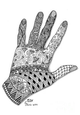 Olivia Drawing - The Artist's Hand by Olivia H Keirstead