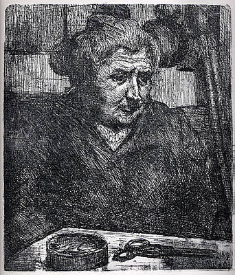 Umberto Boccioni Drawing - The Artists Mother At A Table by Umberto Boccioni