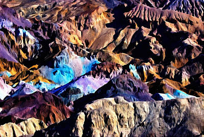 Photograph - The Artists Palette Death Valley by Bob and Nadine Johnston