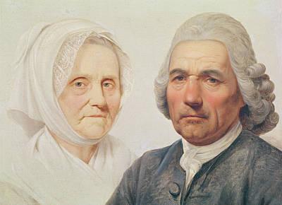 Realist Photograph - The Artists Parents Oil On Canvas by Simon Julien