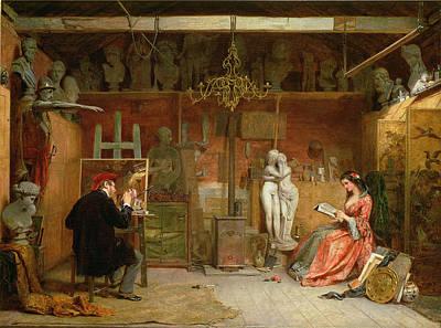Portfolio Painting - The Artists Studio by James Digman Wingfield