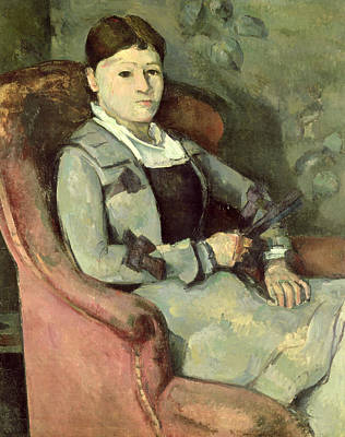 Post-impressionist Photograph - The Artists Wife In An Armchair, C.187888 Oil On Canvas by Paul Cezanne