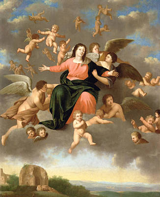 Christian Sacred Painting - The Ascension Of The Virgin by Daniel Vertangen