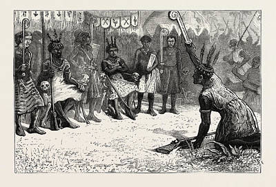 Ghana Drawing - The Ashantee War A Palaver Of Native Kings by African School