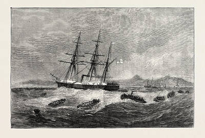 Ghana Drawing - The Ashantee War Landing The Forces For Sir Garnet by African School