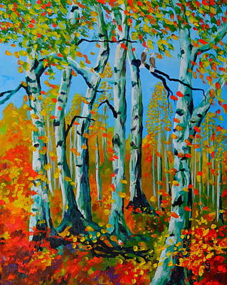 Featured Tapestry Designs - The Aspens by Cheryl Nancy Ann Gordon