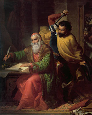 The Assassination Of Martinuzzi Art Print by Nandor Rakosi