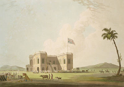 The Assembly Rooms On The Race Ground Print by Thomas Daniell