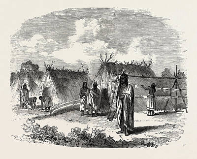 The Assinniboine And Saskatchewan Exploring Expedition Print by English School