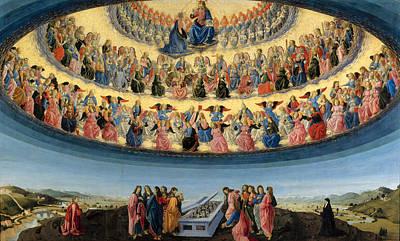 Religious Artist Painting - The Assumption Of The Virgin by Francesco Botticini