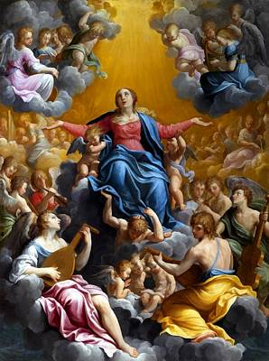 The Assumption Of The Virgin Mary Art Print by Guido Reni
