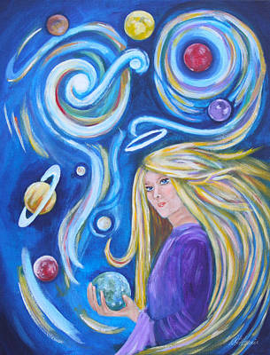 Painting - The Astrologer by Diana Haronis