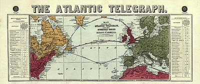 The Atlantic Telegraph Print by Library Of Congress, Geography And Map Division